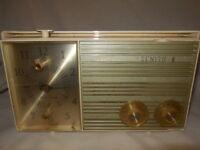 Vintage Zenith Tube Alarm Clock Radio Model Y175H  Parts / Repair
