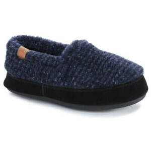 Acorn Kids' Moccasins Slipperss, Blue Check, K8/9 A10089ACF8-9