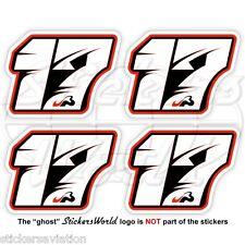 JULES BIANCHI 17 Black Formula F1 50mm Stickers Adesivi in Vinile Per Auto x4