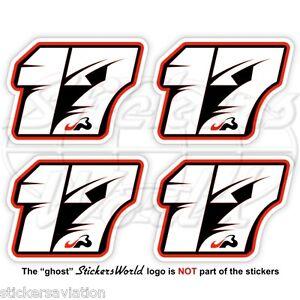 JULES BIANCHI 17 Black Formula F1 50mm Sticker Adesivo Aufkleber Autocollant x4