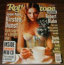 2002 Rolling Stone Magazine: Spider Man Kirsten Dunst, Eminem CD, Guns & Madonna