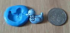 Nouveau silicone bébé canard moule de moule sugarcraft décoration gâteau fimo clay