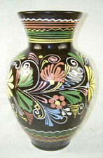 """French Alsace Pottery 11"""" Vase - Pastel Colors"""