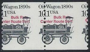 """2130a - 10.1 c Misperf Error / EFO Pair """"Oil Wagon"""" Mint NH"""