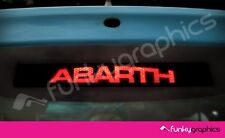 FIAT 500 ABARTH CURVED LOGO 3rd BRAKE LIGHT DECAL STICKER GRAPHIC x 1 IN BLACK