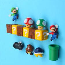 10pcs/Set Super Mario Home Decor Super Mario PVC Magnet Sticker Fridge Magnet