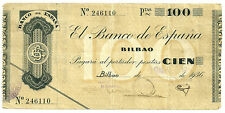 BILLETE DE 100 PESETAS DE 1936 (BC+) BILBAO