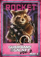 Guardians of the Galaxy Vol 2 Movie Poster (24x36) - Rocket, Bradley Cooper v9