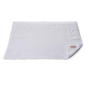 1 x H x T Bath Mat Shower 19 11/16x27 5/8in White 100% Cotton Griechenbordüre &