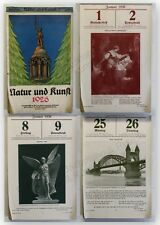 Natur und Kunst Kalender 1926 illustriert Illustrationen Kultur Kalendarium xy