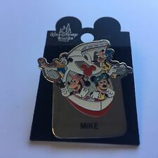 WDW - Monorail MIKE Name Pin FAB 4 Mickey Minnie Goofy Donald Disney Pin 15004