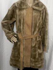 1ba3e6b3b09 Vintage 1960 s London Leathers Lilli Ann Suede Leather Faux Fur Coat