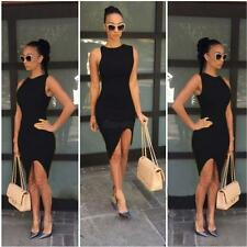 Women Lady Sexy Short Slim Sleeveless Cocktail Party Evening Bodycon Mini Dress