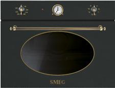 SMEG SF4800MAO  Kompakter Mikrowellenherd mit Grill, Antrazit Koloniale Ästhetik