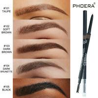 Slim Eyebrow Pencil Waterproof Eye Brow Eyeliner Pen With Brush Makeup Cosmetic