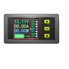 DC 90V 20A LCD Volt Amp Ah Power Capacity Percent Battery Monitor Watt Meter