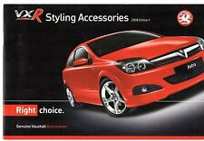 Vauxhall VXR Styling Accessories 2007-08 UK Brochure Corsa Tigra Astra Vectra