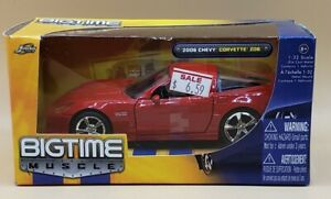 Jada Bigtime Muscle 2006 Chevy Corvette Z06 Sports Car 1:32, Red