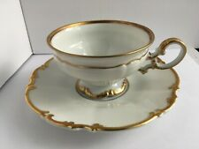 HUTSCHENREUTHER SELB BAVARIA GERMANY Sylvia PASCO Brighton CUP & SAUCER Gold