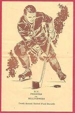 Vintage 1960s DENVER UNIVERSITY PIONEERS COLLEGE HOCKEY PROGRAM Future NHLers