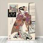 "Beautiful Japanese GEISHA Art ~ CANVAS PRINT 8x10"" Courtisan in Kimono #180"