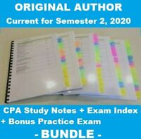 CPA Strategic Management Accounting HD Study Notes & Index Sem 2 - 2020