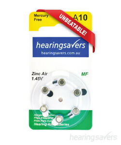 NEW HEARING SAVERS Hearing Aid Batteries size 10 from Hearing Savers