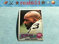 1975 Topps NFL #328 ERNIE HOLMES Rookie | Nice Vintage Pittsburgh Steelers RC