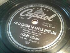 Carlos Molina 78 aprendiendo a hablar inglés/Palabras de mujer Capitol 307 ex