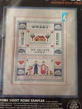 """Dimensions Home Sweet Home Counted Cross Stitch Sampler Kit No. 3608 11""""x14"""" NIP"""