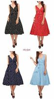 Miss Lavish Dress 50's Prom Swing Vintage Rockabilly Retro Polka Dot Plus Size
