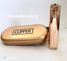ROSE GOLD Clipper Metal Lighter with Metallic Finish Gift Tin LIMITED EDITION