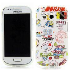 Samsung Galaxy S3 mini i8190 Tpu Silikon Case Handy Schutz Hülle Comic Weiß