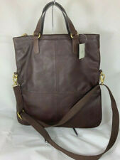 NWT Fossil Explorer Foldover Tote Bag in Expresso
