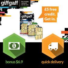 Prepaid UK Number 3-in1 SIM Card Pay-as-you-go ✔︎ €5 Bonus ✔︎ for Unlocked phone