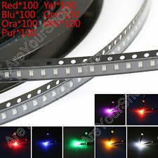 700Pcs 0805 SMD LED Red Green Blue Yellow White Orange Purple 7Colour Ligero Kit