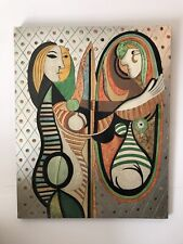 """Abstract Wall Hanging Picasso Like 38"""" tall by 28"""" wide"""
