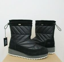 UGG BECK Winter Boot 8.US BLACK Waterproof NYLON/Suede NWOB $180 MSRP