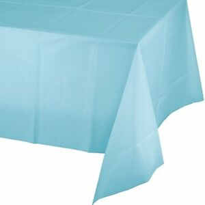 """Solid Colors 54"""" x 108"""" Rectangular Plastic Tablecloths Tablecovers Table Cloths"""