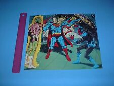DC COMICS SUPERFRIENDS SUPERMAN & SUPERGIRL VS SINESTRO & BRAINIAC PIN UP