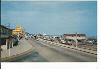 CG-040 MA, Nantasket Beach, Boulevard Chrome Postcard Old Cars Massachusetts