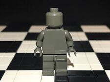 Lego Plain vieux gris foncé figurine head torse mains jambes/Monochrome