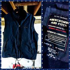 Authentic ABERCROMBIE & FITCH Blue Nylon Vest Inside Zip Pocket Jacket L