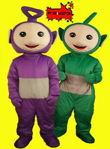 4 TELETUBBIES mascot costume fancy dress up self hire for CHILDRENS KIDS PARTY
