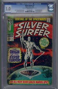 SILVER SURFER #1 CGC 1.0 ORIGIN OF SILVER SURFER & THE WATCHERS