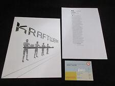 Kraftwerk 2004 World Tour Book Concert Program w Ticket Stub Techno Synth