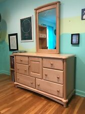 Ragazzi Maple Bedroom Furniture - Dresser w/ mirror & Desk w/ hutch and chair