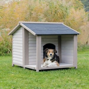 Trixie Natura Log Cabin with Porch Dog Kennel Pet House