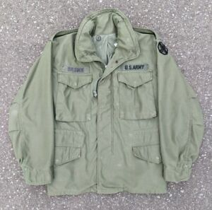 Vintage 1971 1970s US Army M-65 Field Jacket 13th Sustainment Command sz S