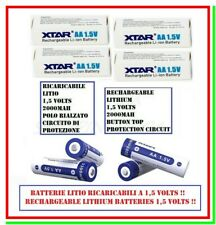 4 batterie aa litio 1,5 volts ricaricabili 2000mAh 1,5v pila stilo XTAR 3300mWh